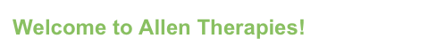 Welcome to Allen Therapies!